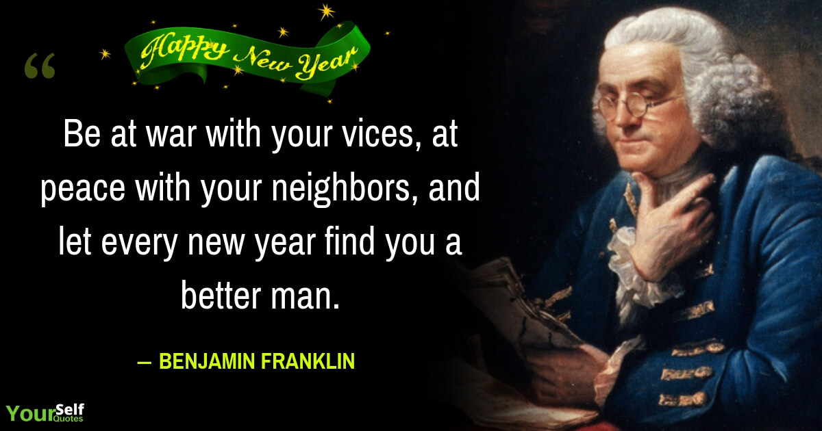 New Year Quotes by Benjamin Franklin