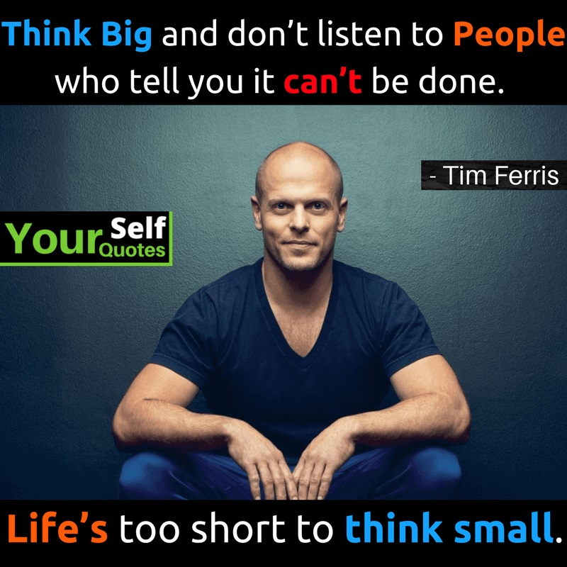 Be Yourself Quote By Tim Ferriss
