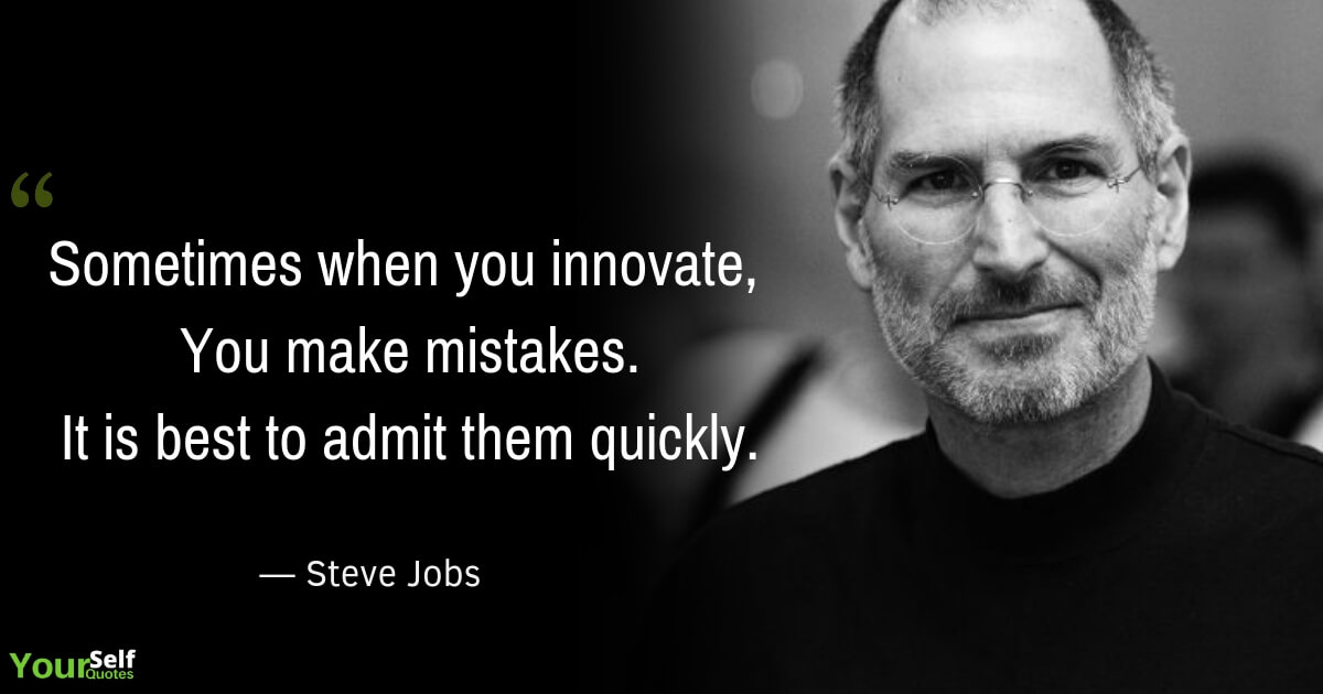 Steve Jobs Mistakes Quote