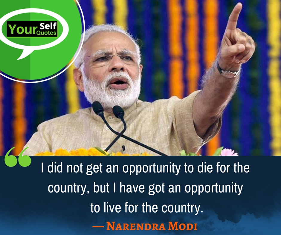 Thoughts of Narendra Modi