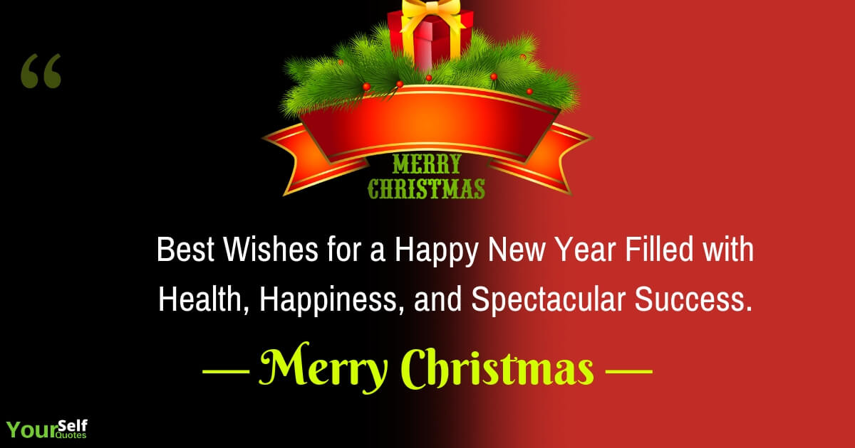 Best Christmas Wishes and Happy New Year