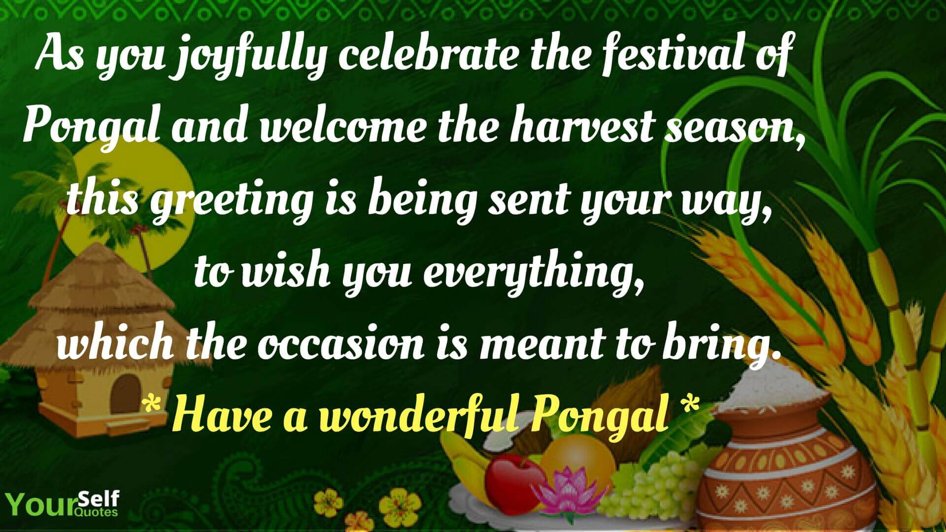 Happy Pongal Festival Wishes Photo