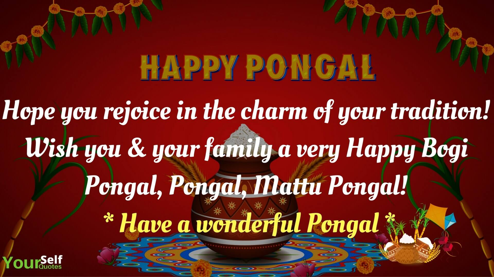 Mattu Happy Pongal Festival Wishes