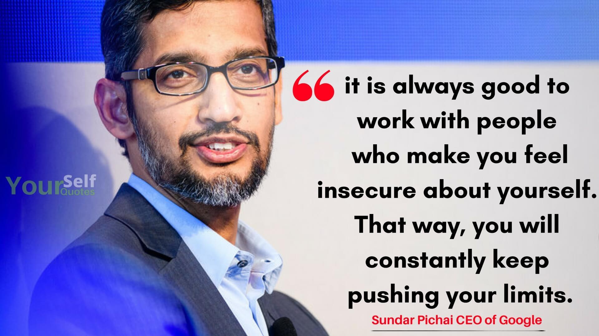 Quotes of Sundar Pichai