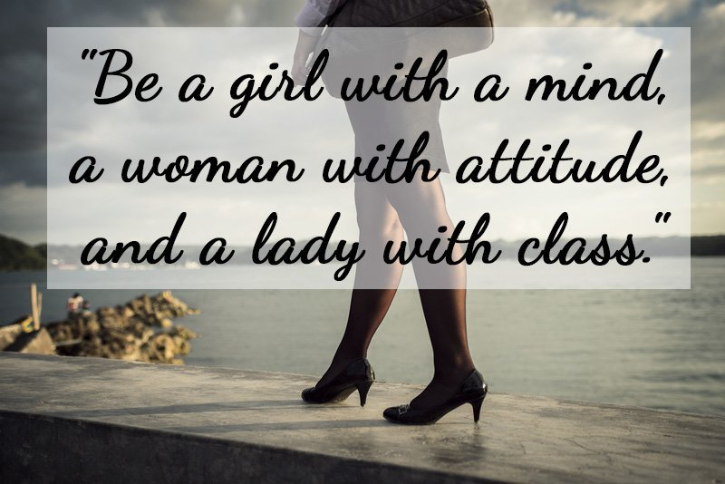 Womans Attitude Quotes