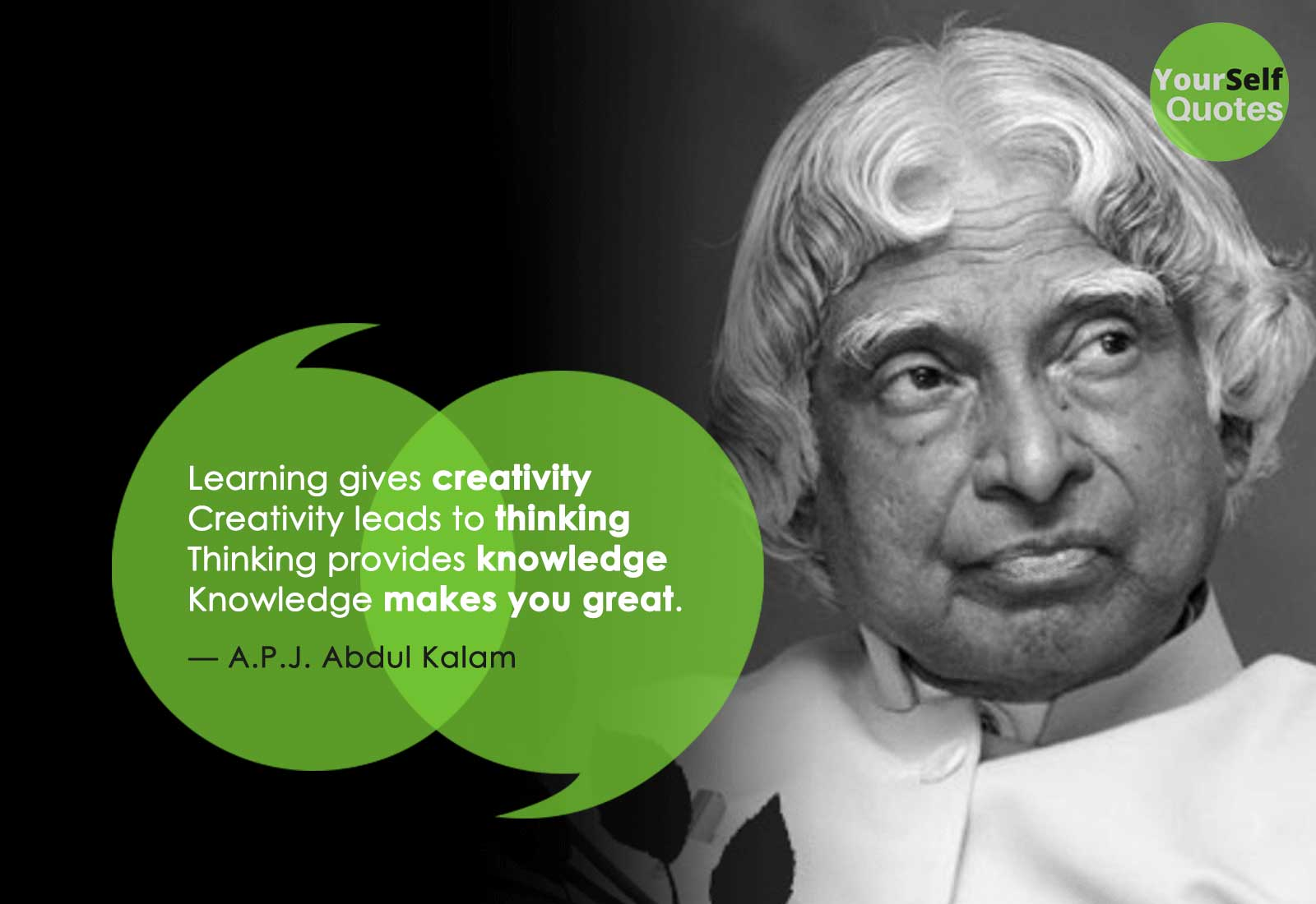 Learning APJ Abdul Kalam Knowledge Quotes for Students