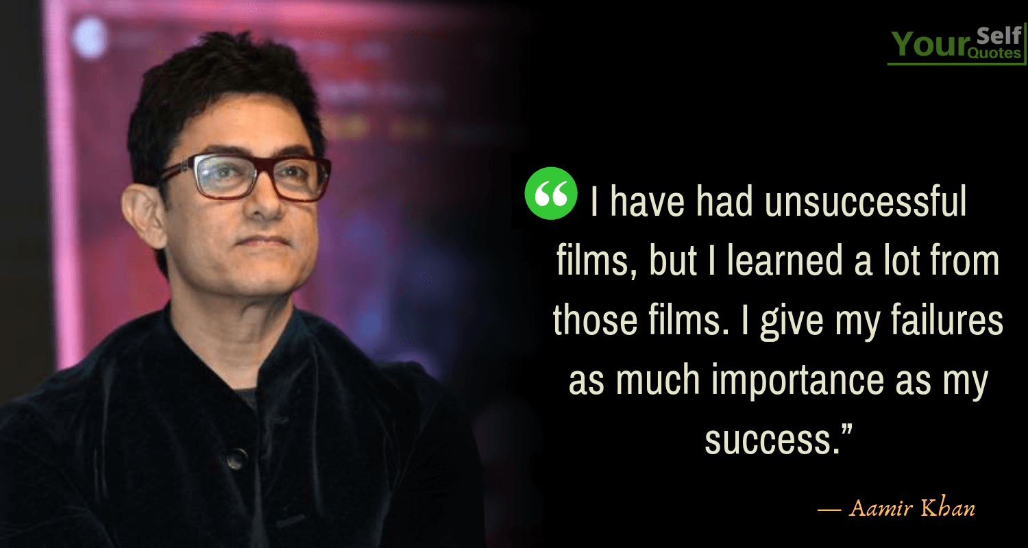 Aamir Khan Quotations on Success