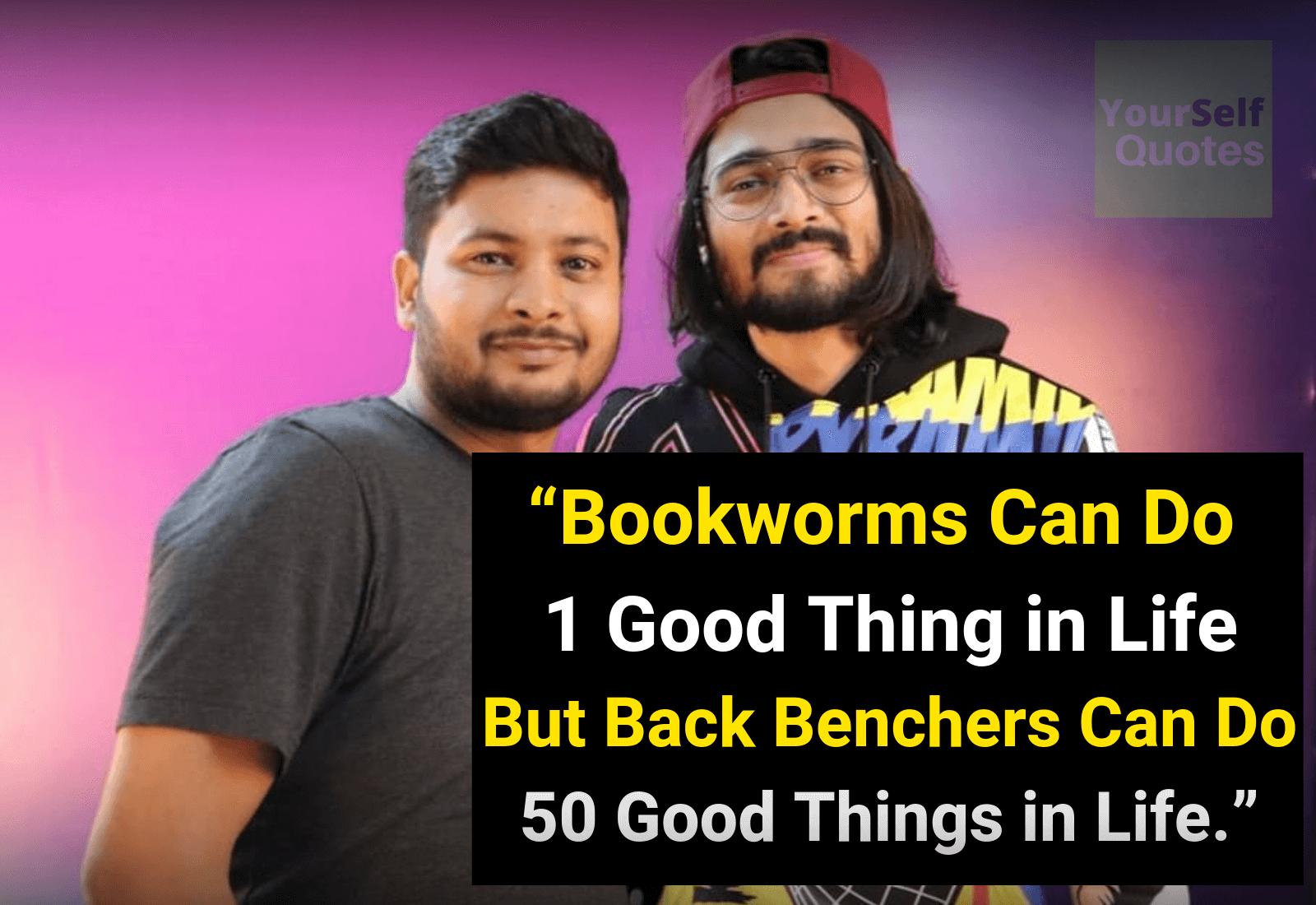Abhishek Gupta Quotes witn Bhuvan Bam Image