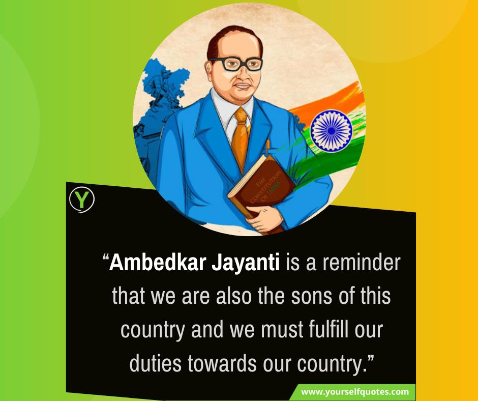 Ambedkar Jayanti Quote