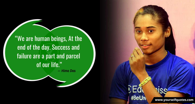 Kutipan Hari Atletik oleh Hima Das
