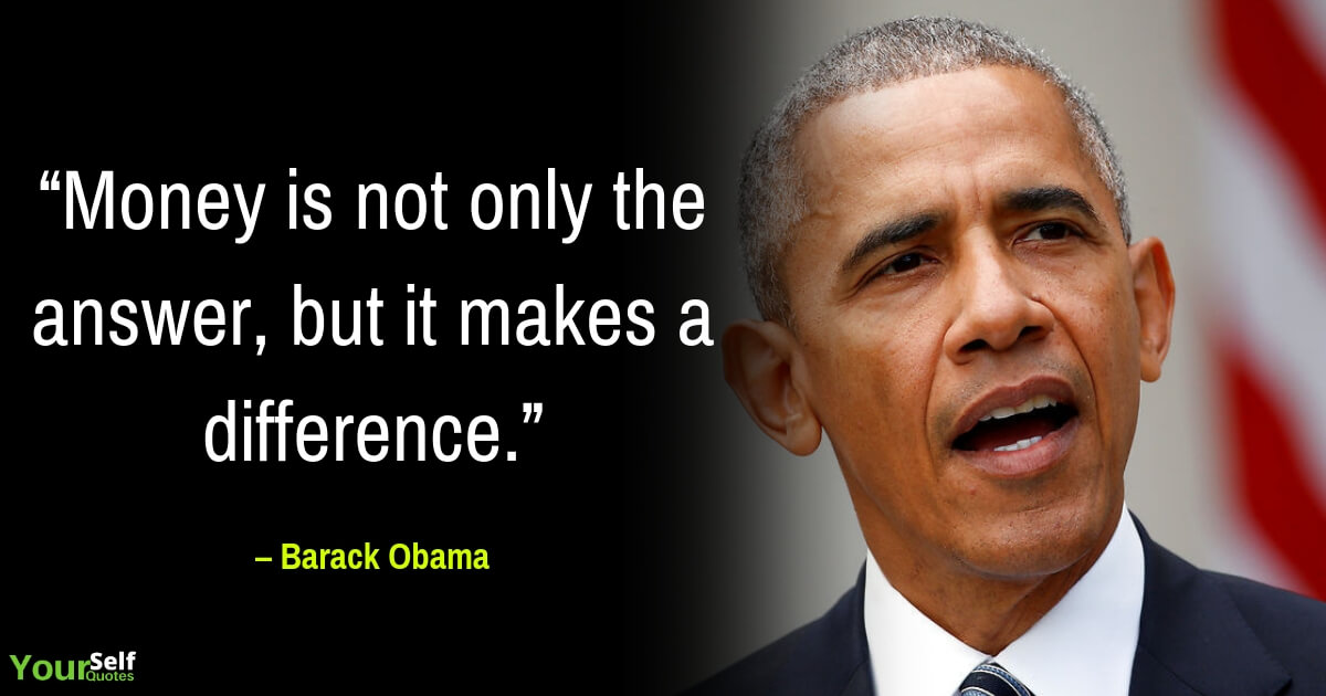 Barack Obama Money Quotes