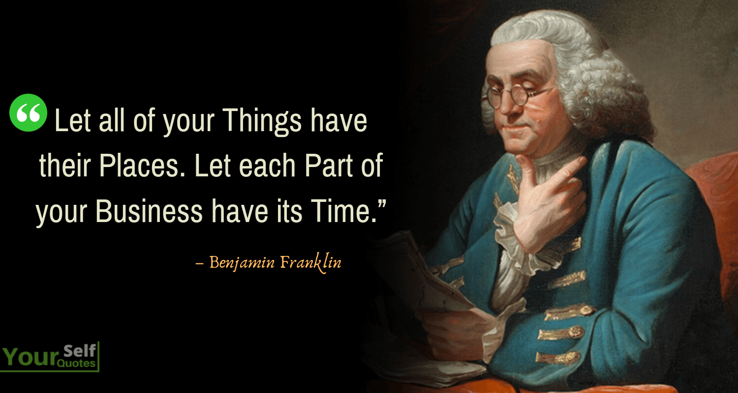 Benjamin Franklin Sayings
