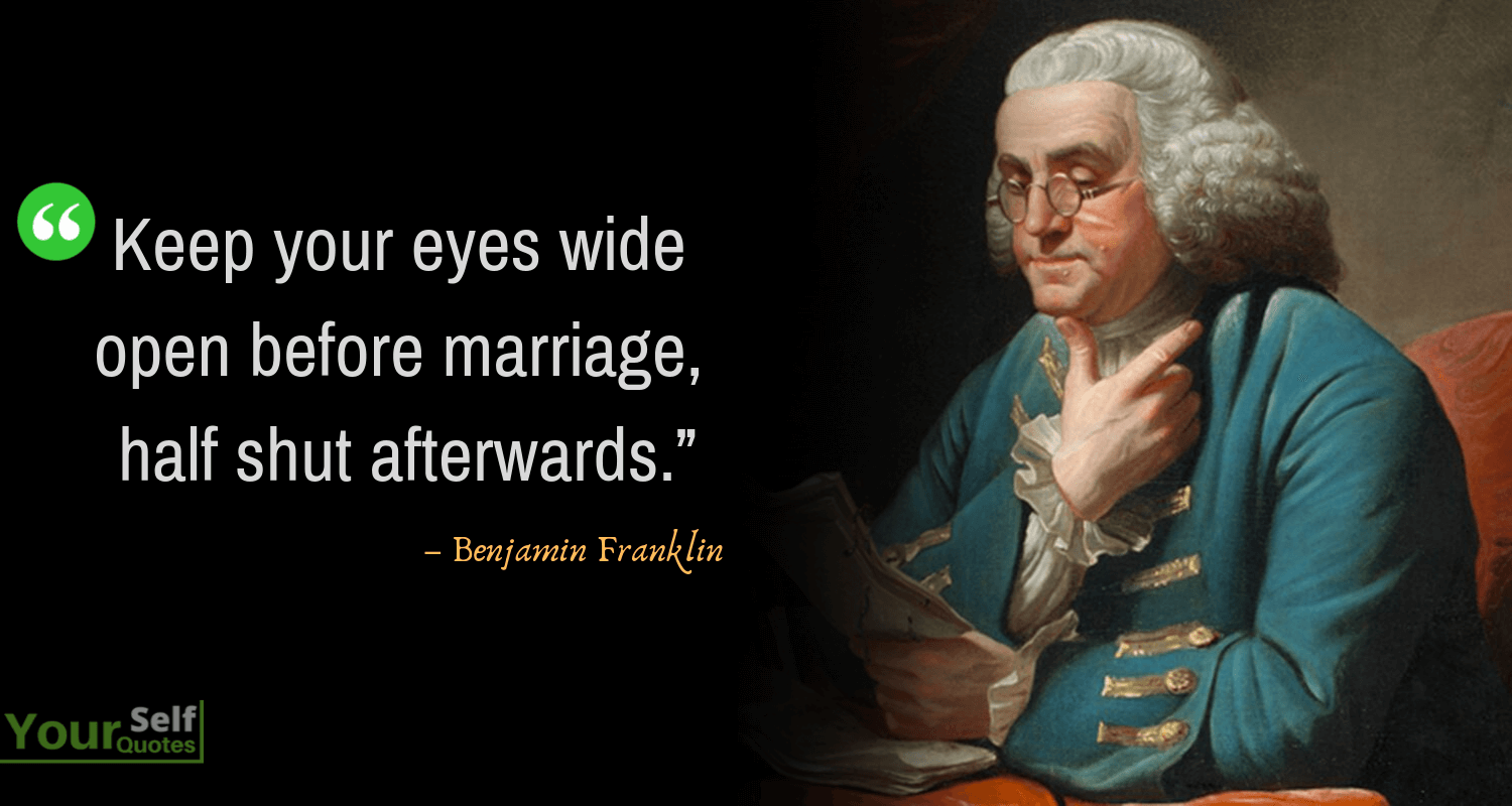 Benjamin Franklin Quotes Thought