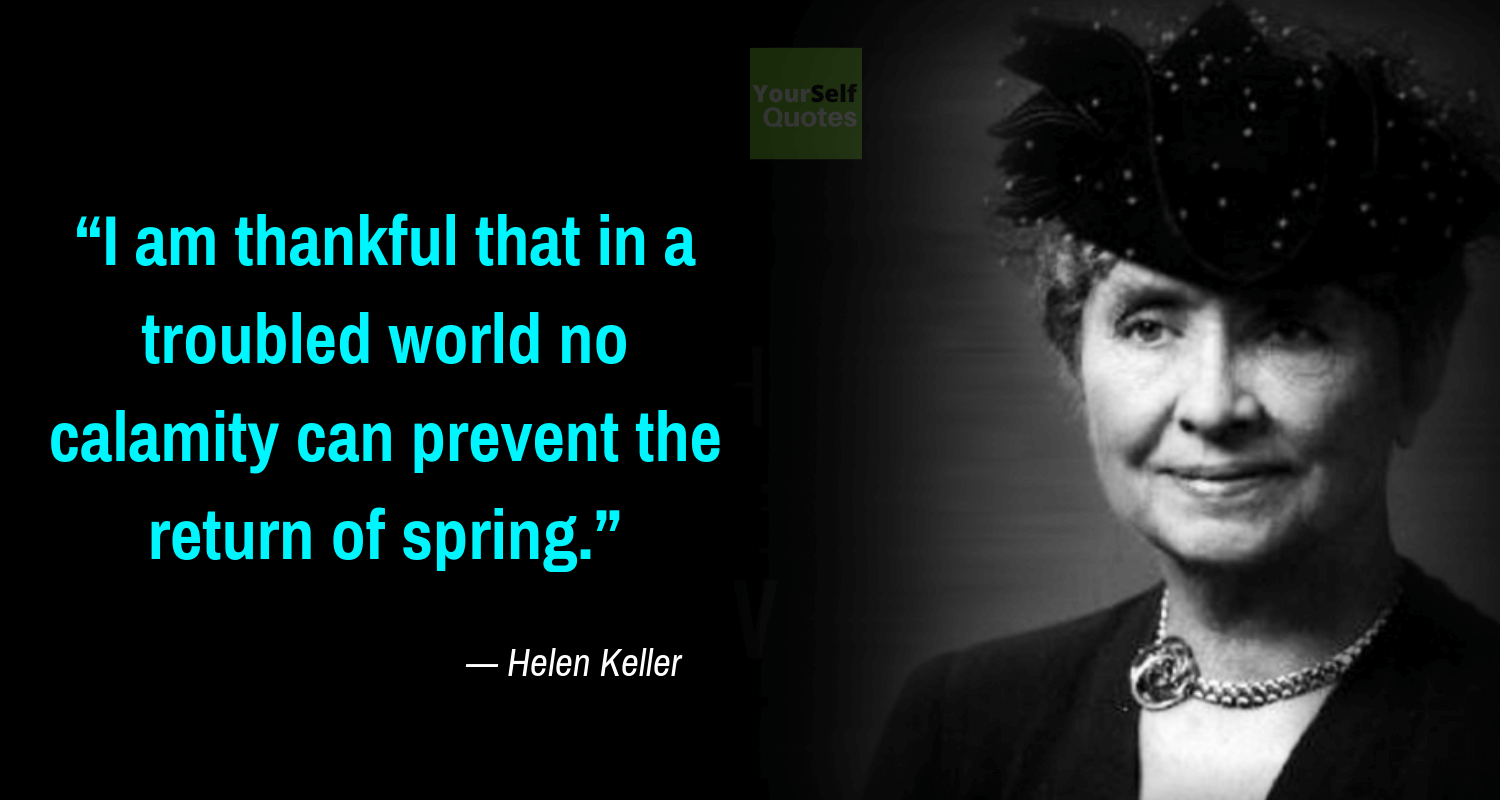 Best Helen Keller Quote