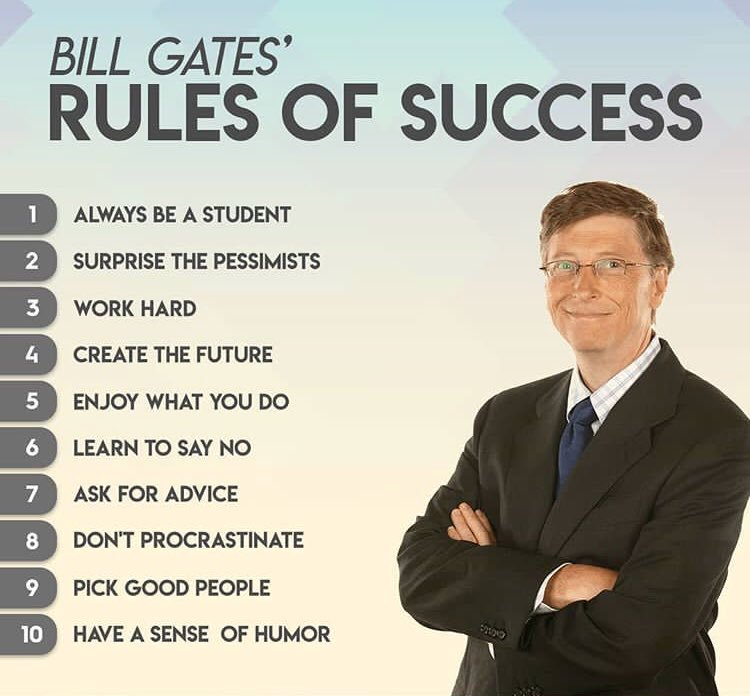 Bill Gate's Top 10 Rules of Success