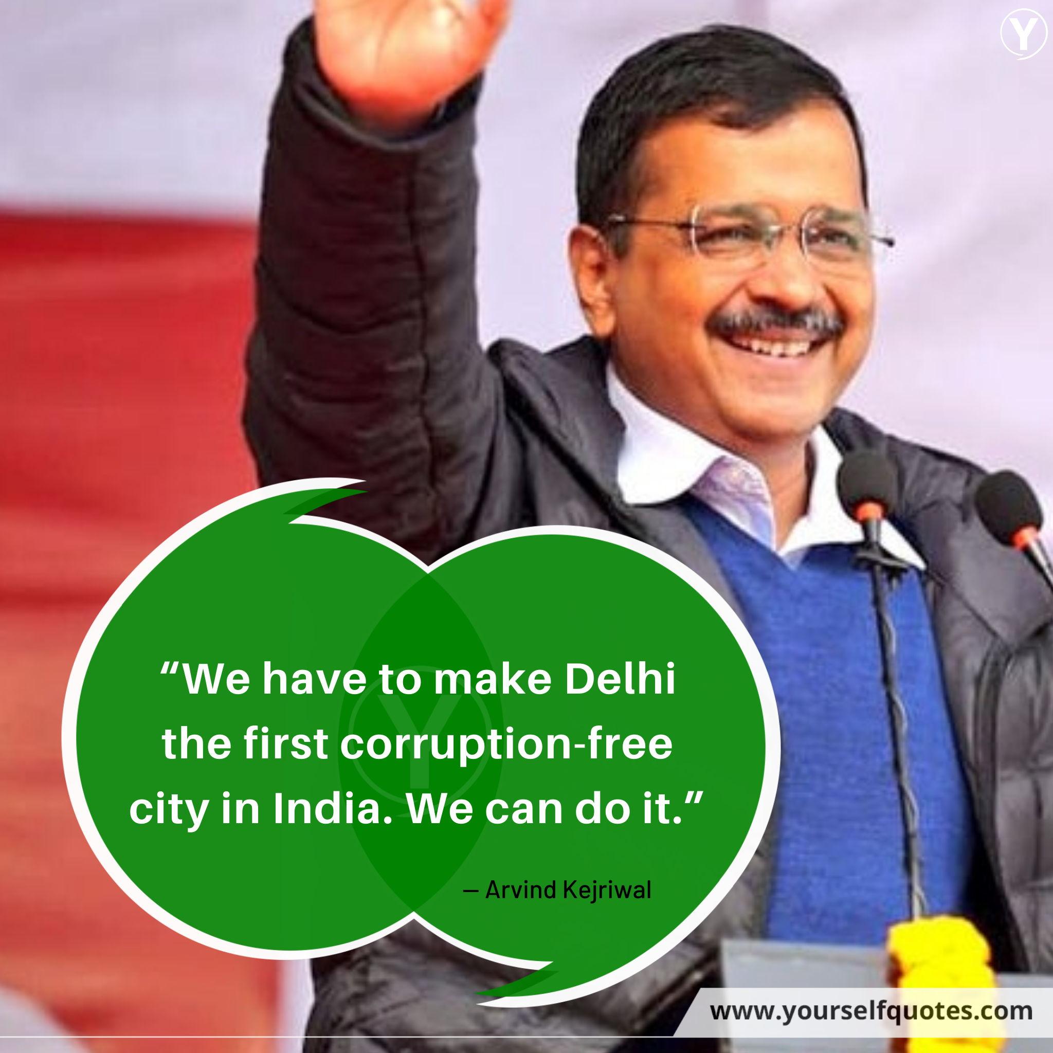 CM Delhi Arvind Kejriwal Quotes images