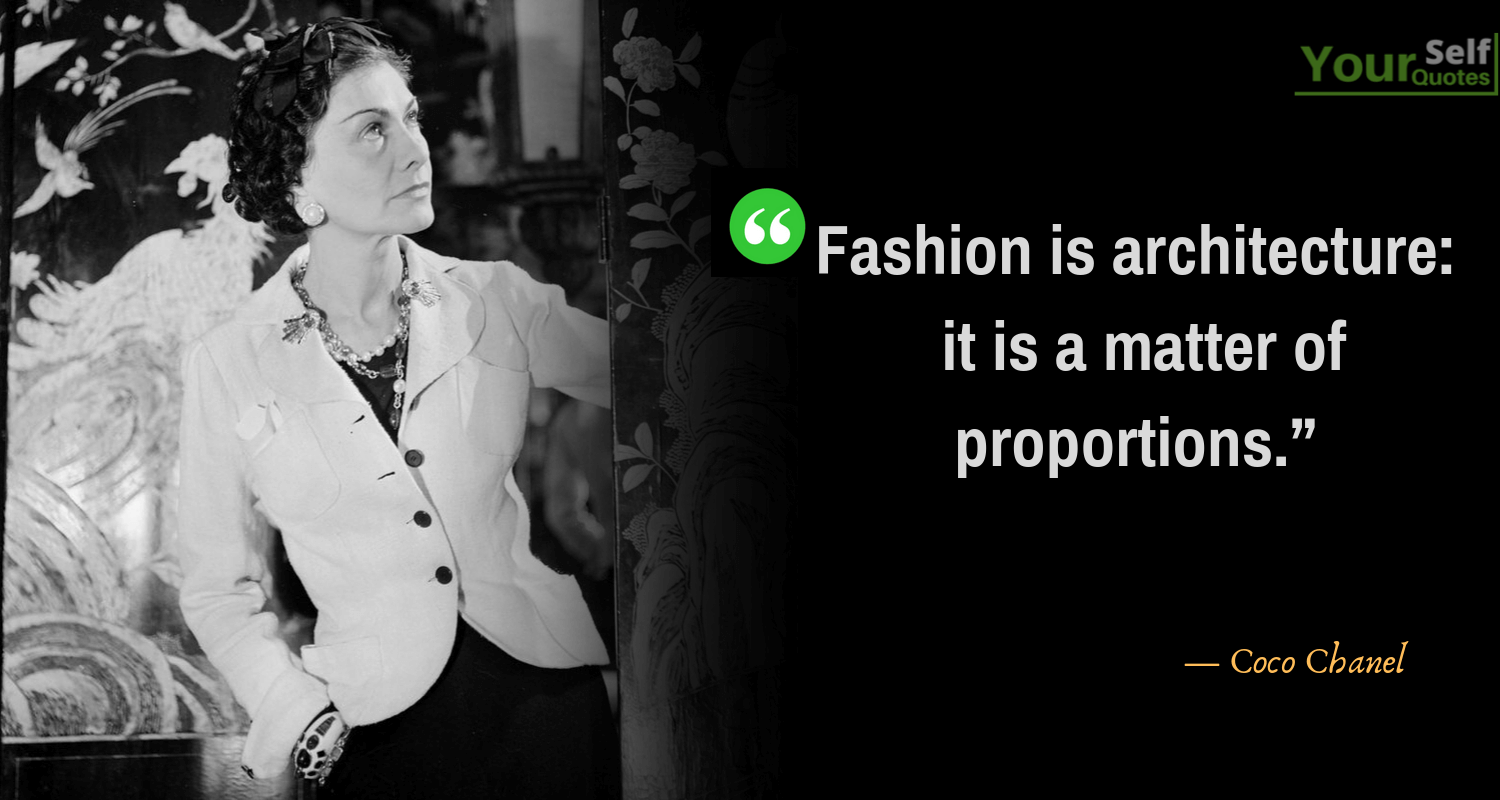 Coco Chanel Quote on Fashion