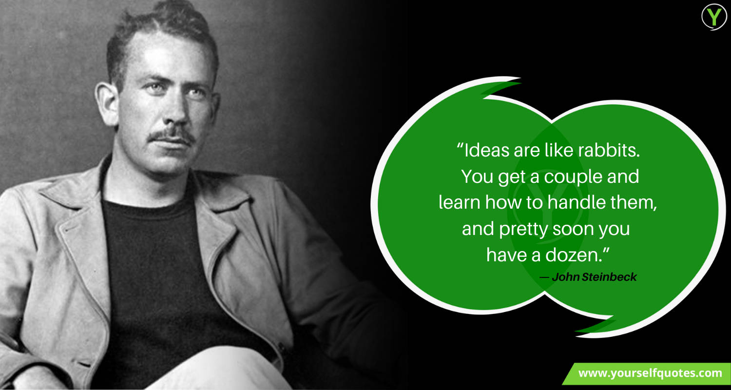 Creativity Quote by John Steinbeck