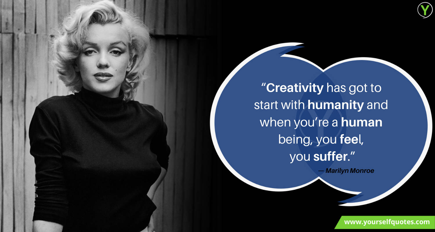 Creativity Quotes Images by Marilyn Monroe