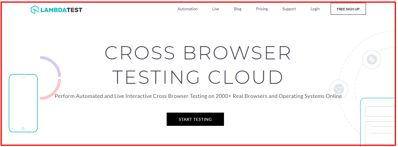 Cross Browser Testing Tool on Cloud