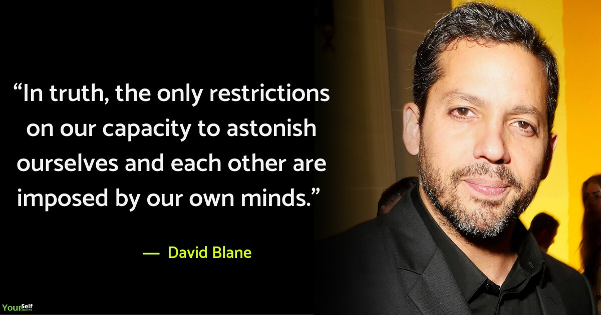 David Blane Quote