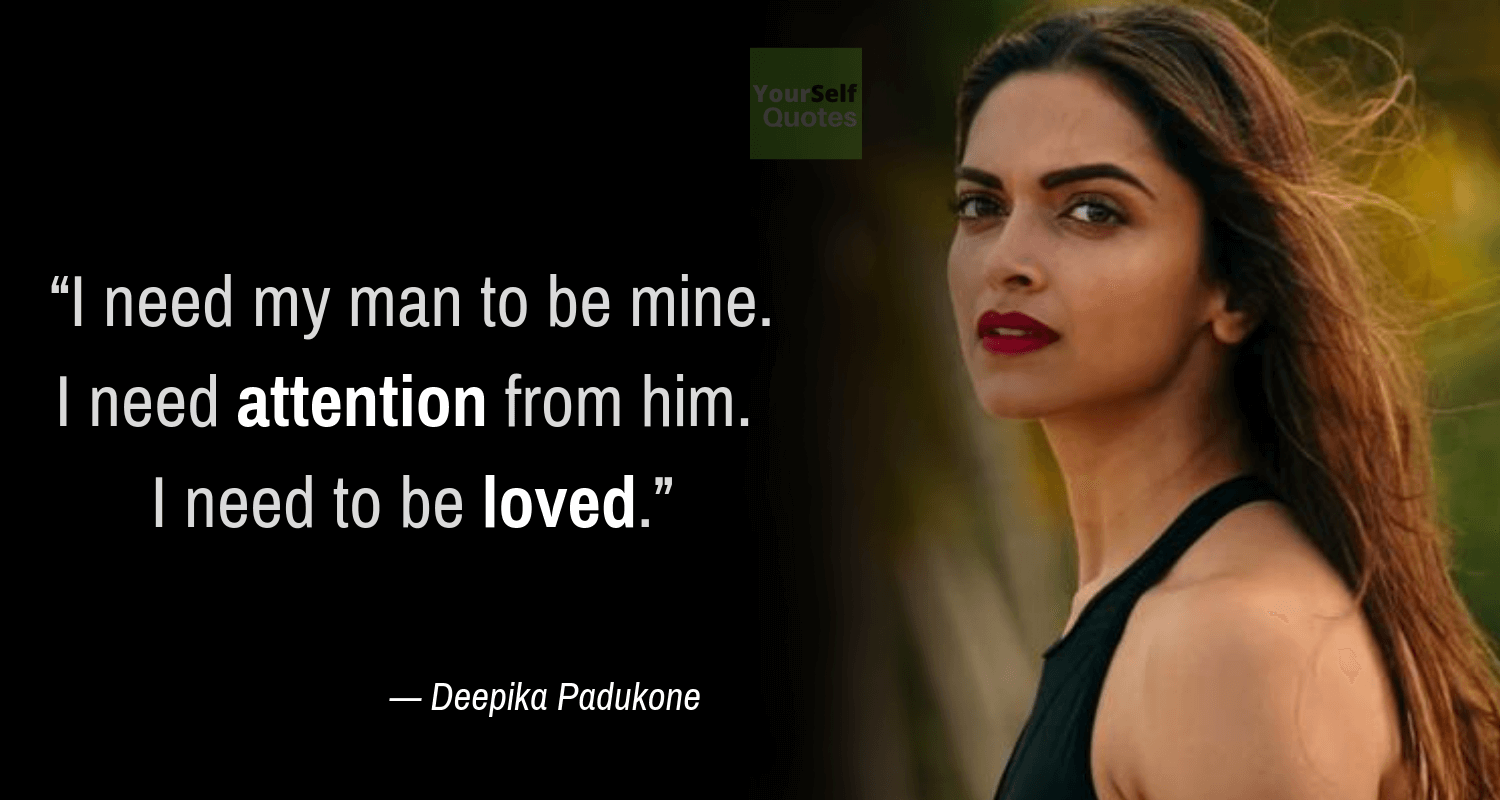 Deepika Padukone Qotes on Love