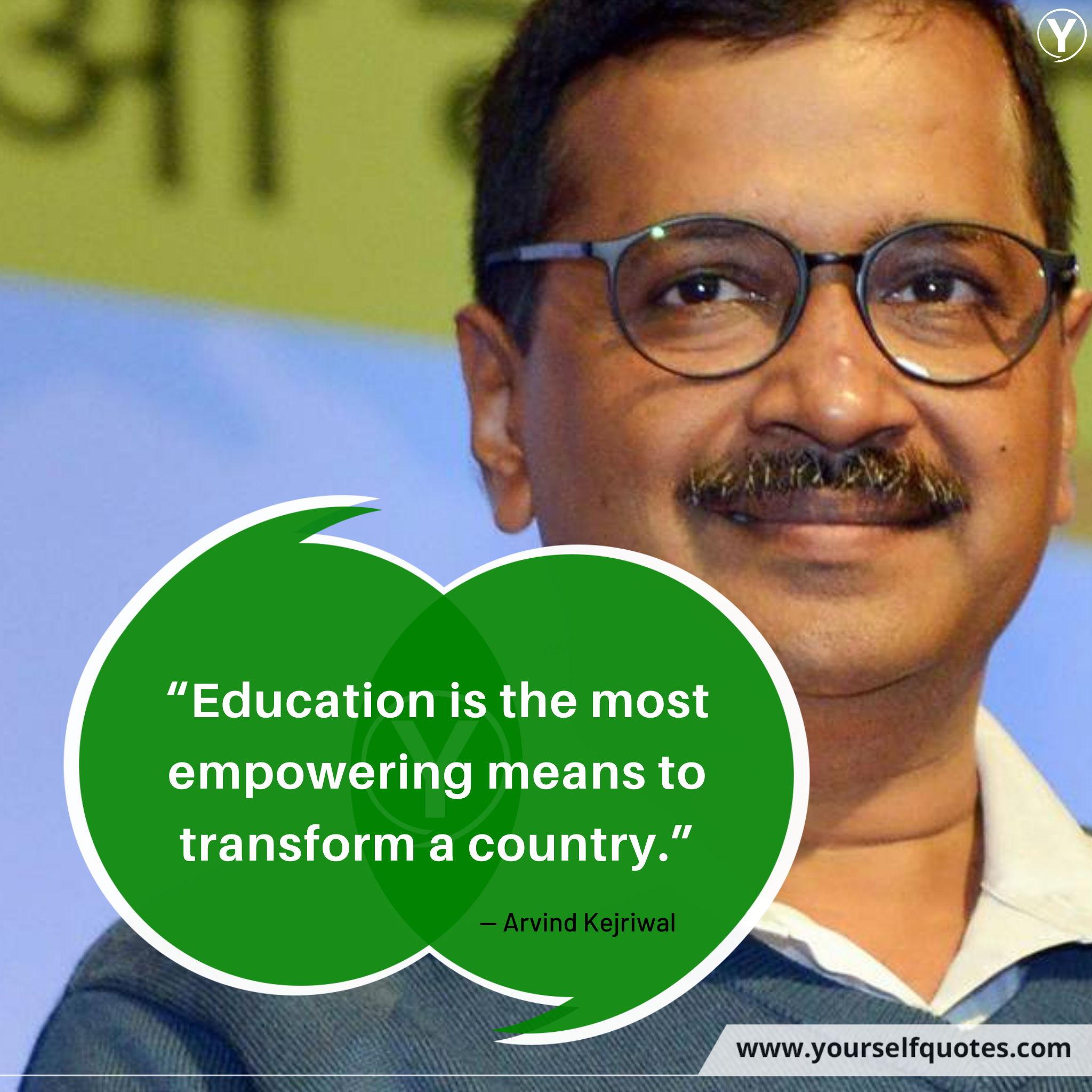 Kutipan Pendidikan oleh Arvind Kejriwal