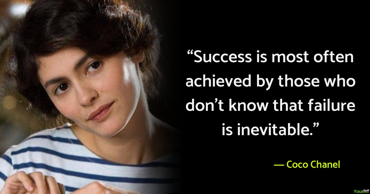 Failure Quotes by Coco Chanel