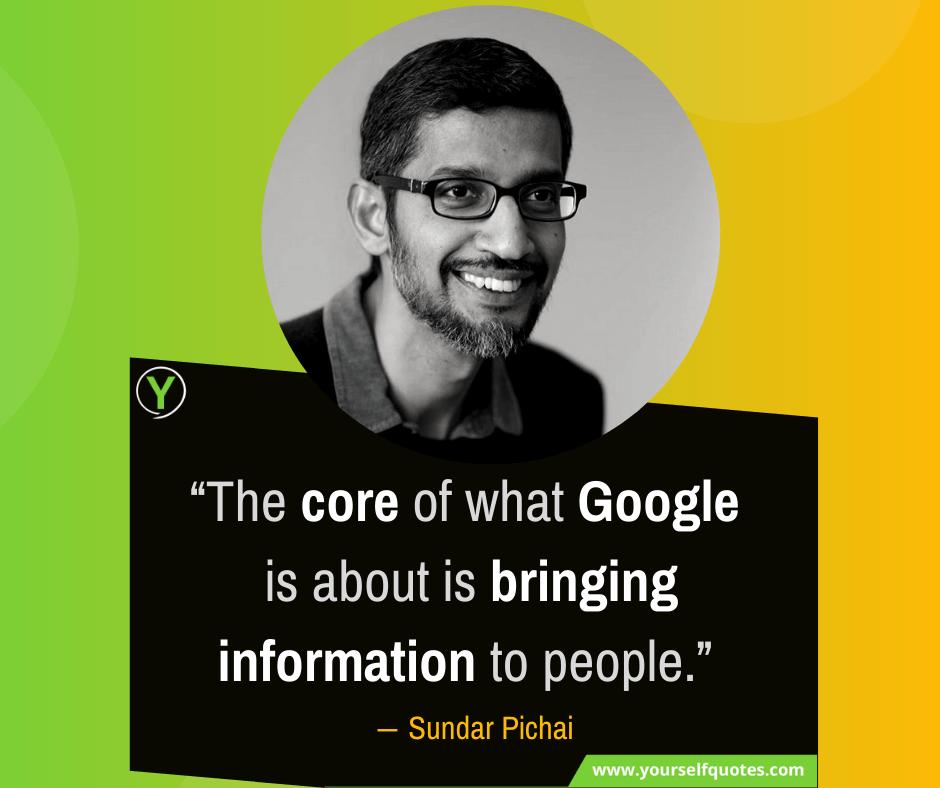 Google Sundar Pichai Quotes Images