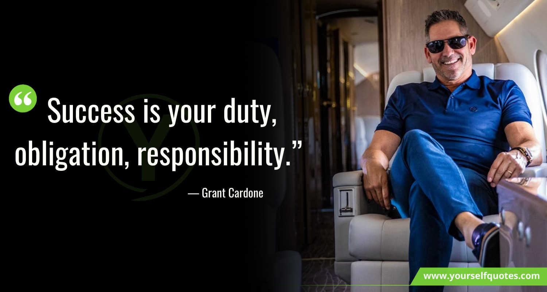 Grant Cardone Quotes on Success