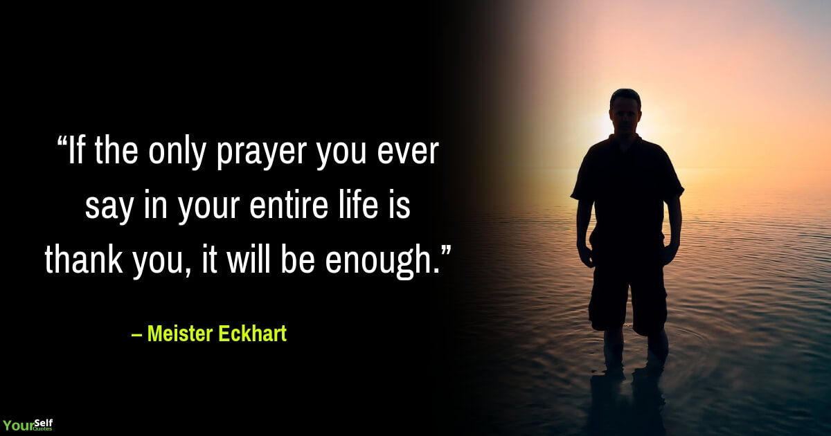 Gratitude Quote by Meister Eckhart