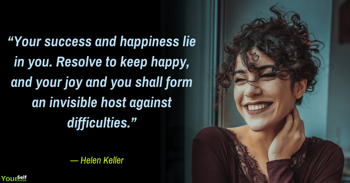 Happiness Quotes by Helen Keller