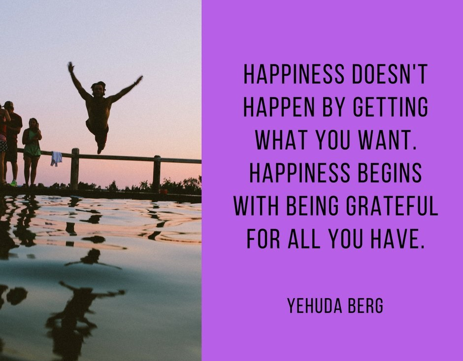 Happiness Quotes by Yehuda Berg