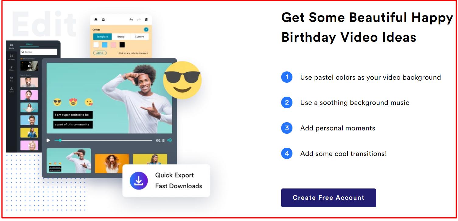Happy Birthday Video Making Ideas