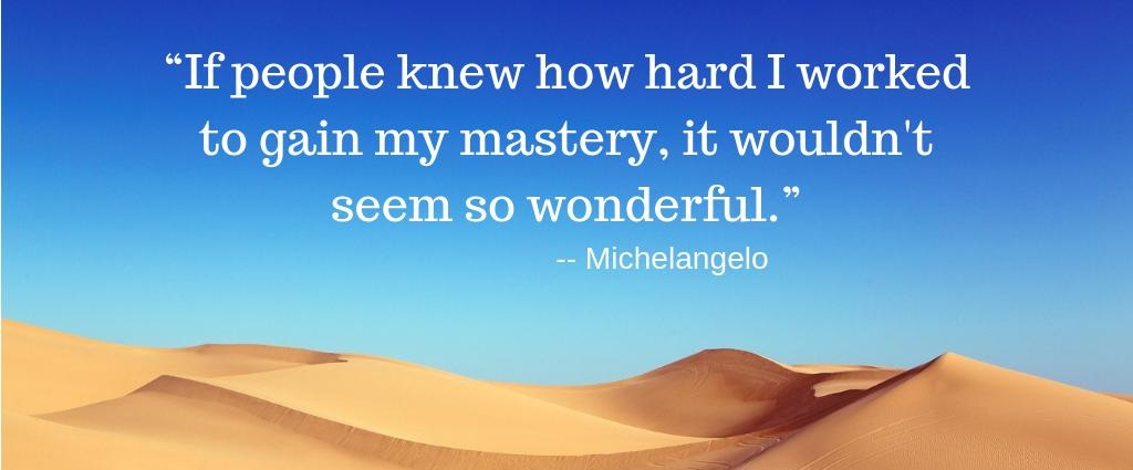 Hard work Quotes by Michelangelo