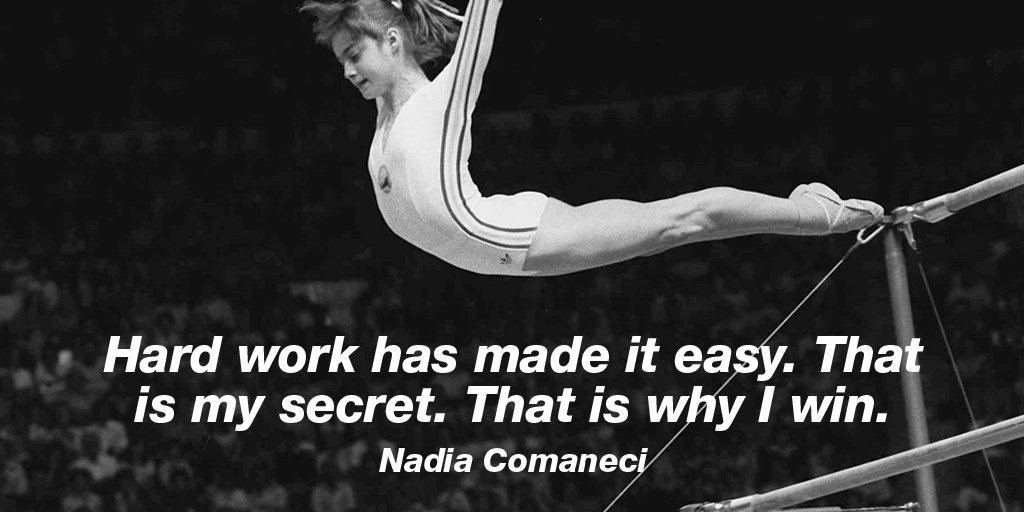Hard work Quotes by Nadia Comaneci