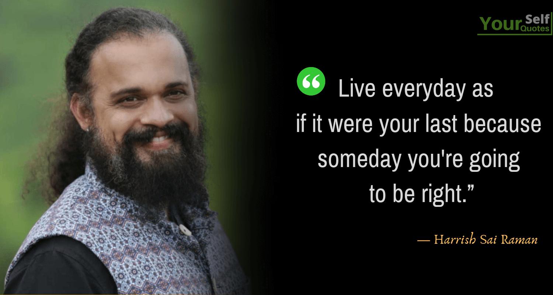 Harrish Sai Raman Quotes Images