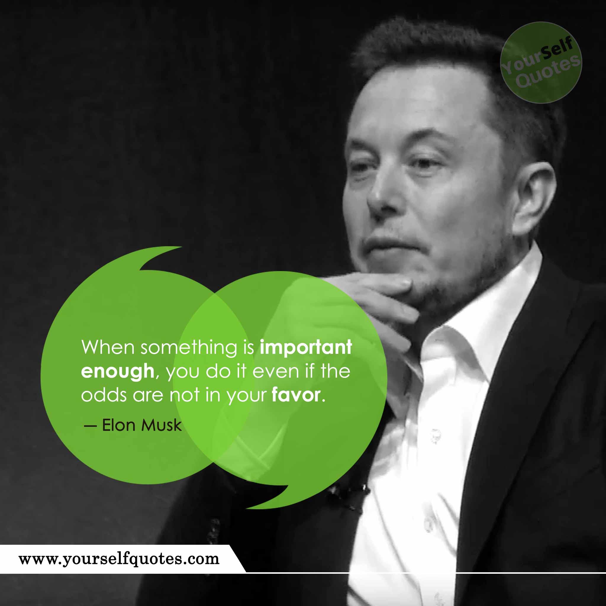 Inspirational Elon Musk Quotes