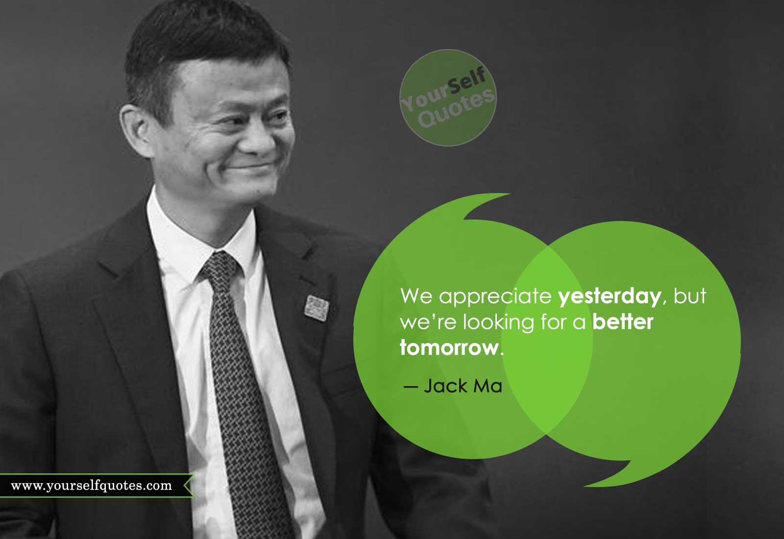 Kutipan Jack Ma yang Menginspirasi