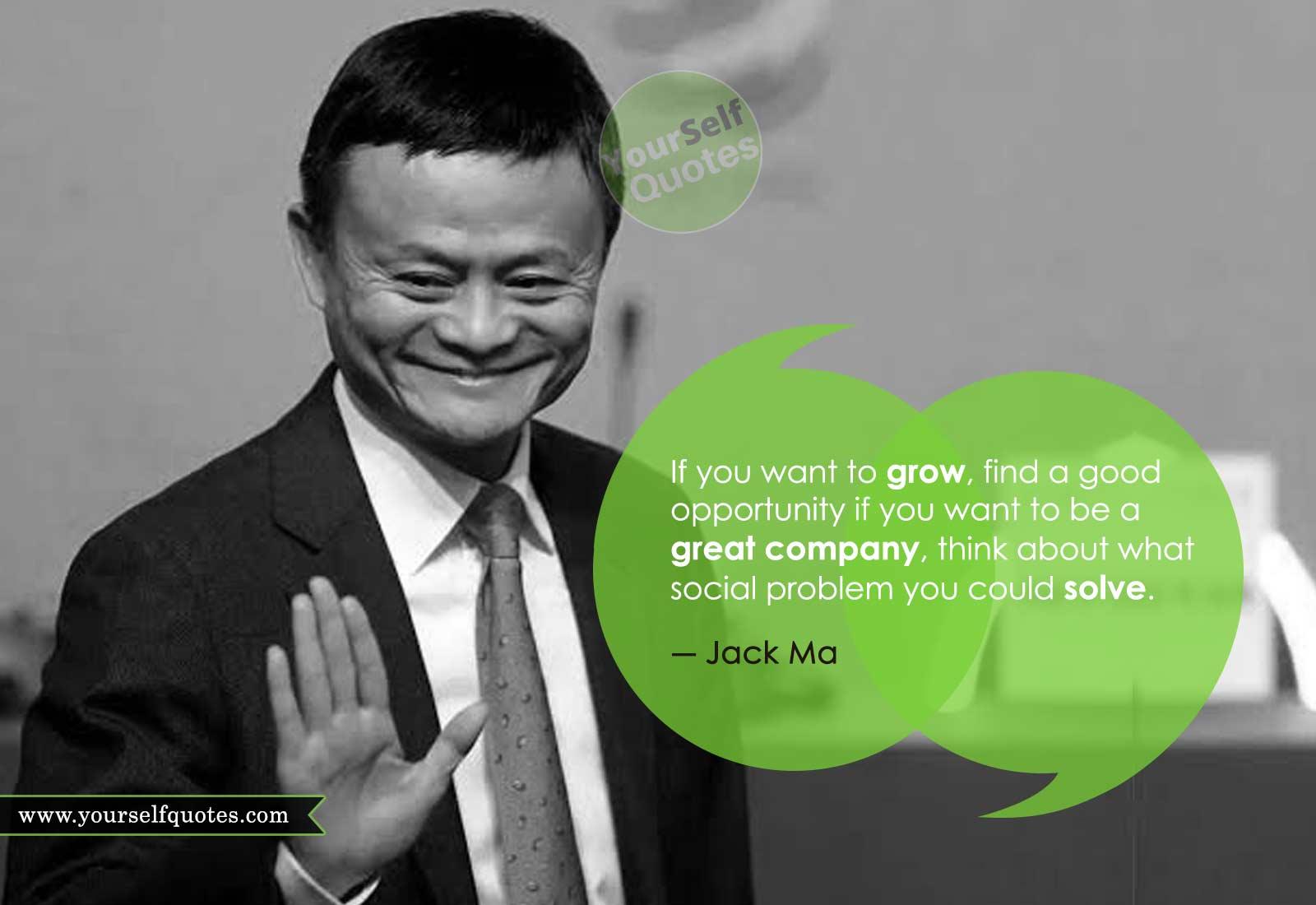 Jack Ma Mengutip Tentang Hidup