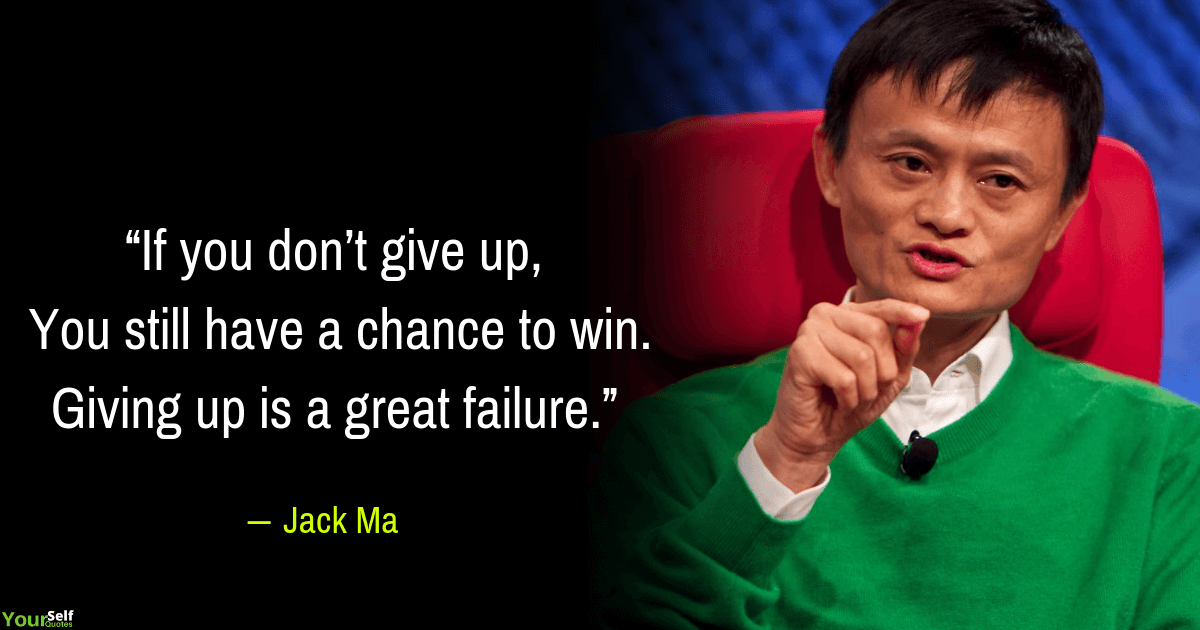 Jack Ma Quotes on Failure