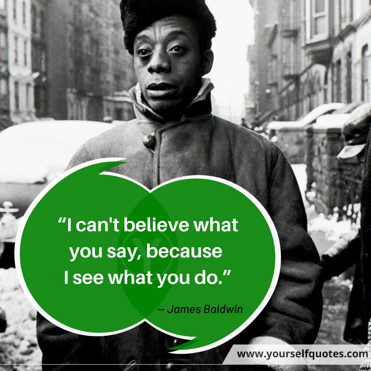 James Baldwin Quote Images