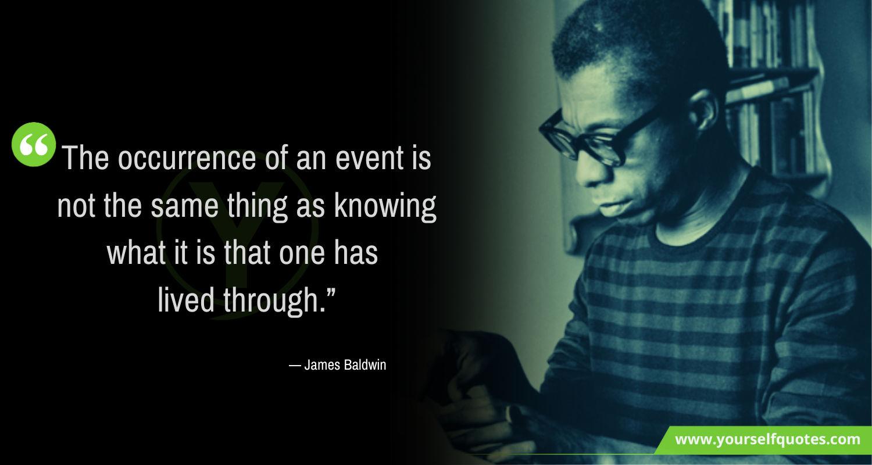 James Baldwin Quotes Life