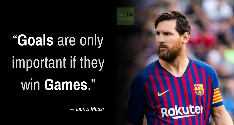 Lionel Messi Quotes on Goals