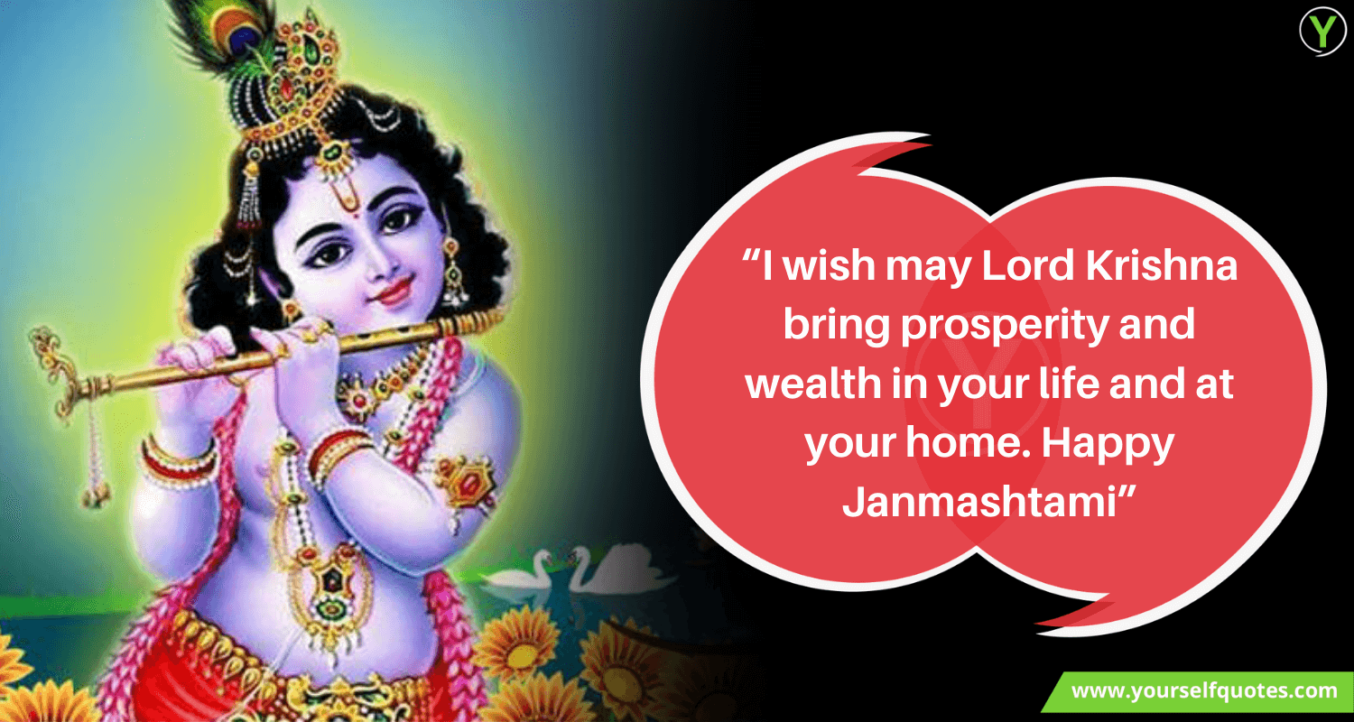 Lord Krishna Janmashtami Wishes Wallpaper