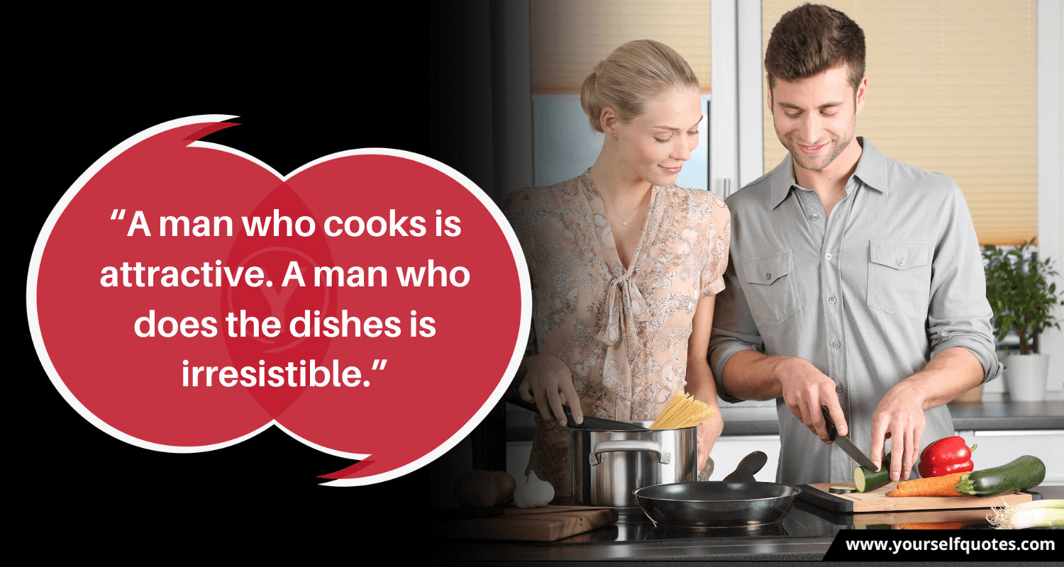 Man Cooking Quotes Images