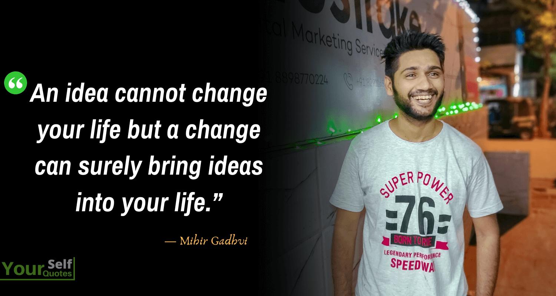 Mihir Gadhvi Life Quotes Images
