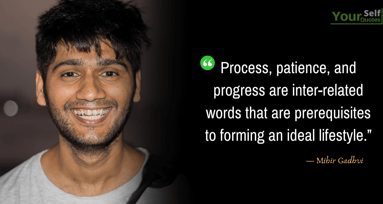 Mihir Gadhvi lifestyle Quotes Images