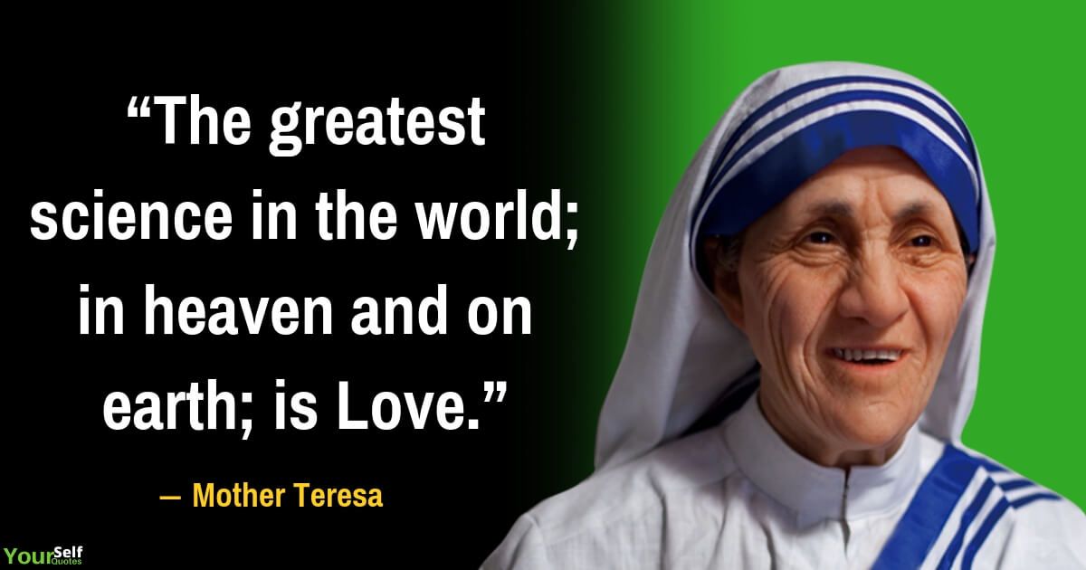 Mother Teresa Quote on Love Life
