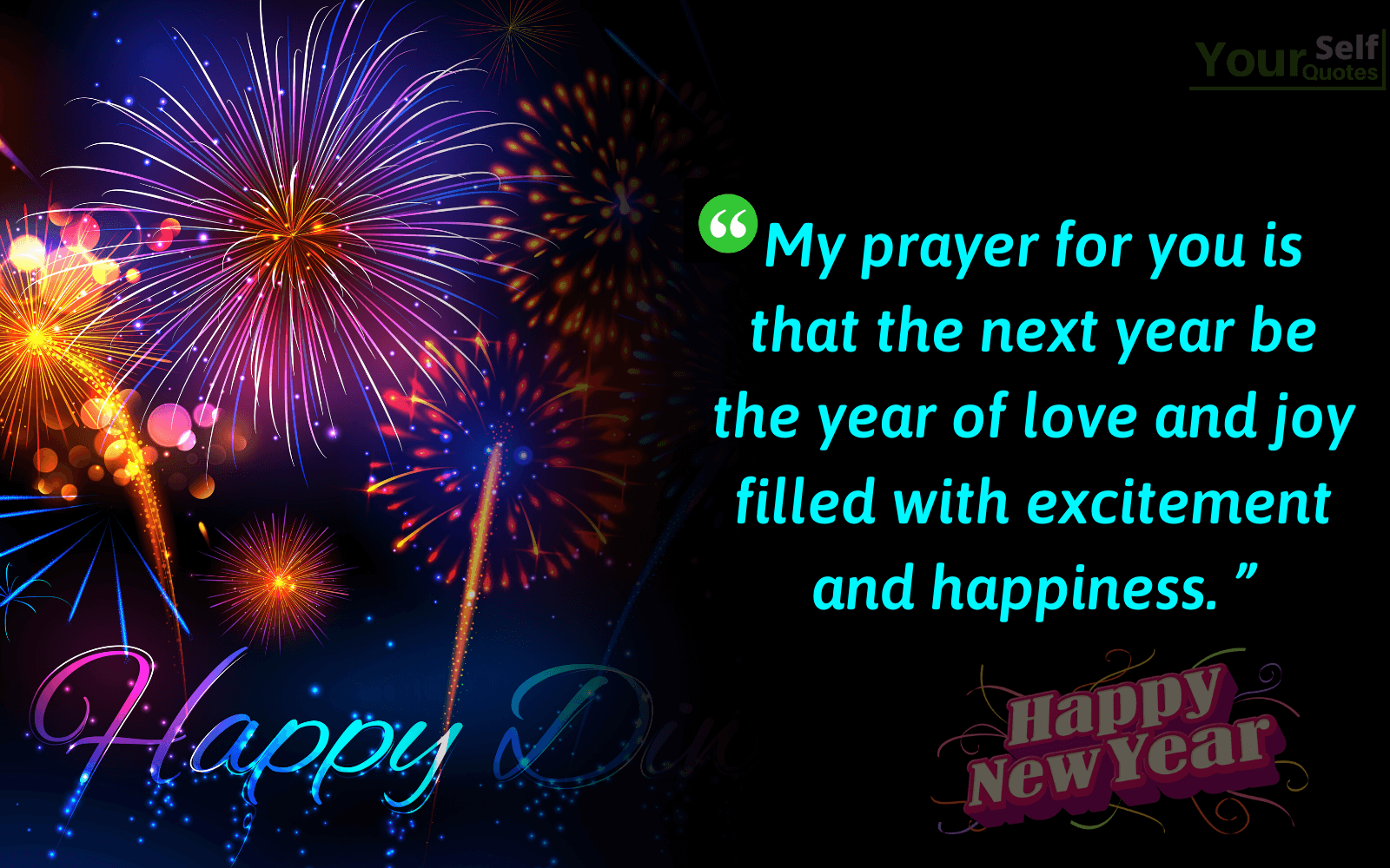 New Year Happiness Quotes Wallpaper